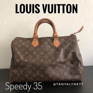Vintage Louis Vuitton monogram speedy 35 #305
